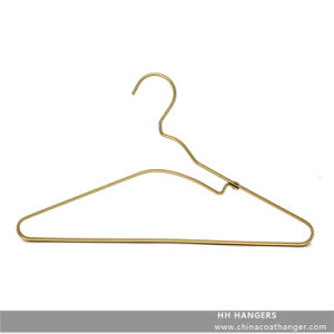 Fashion Design Rose Gold Brass Aluminium Top Clothes Hanger pictures & photos