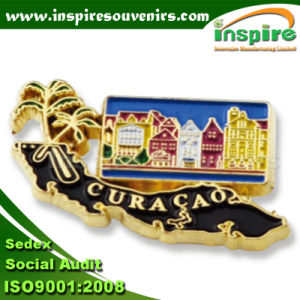 Oil-Filled Flag Pin for Curacao Souvenir (B 612) pictures & photos