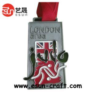 2014 Newest Design Glitter Sport Custom Running Medal (M0036)