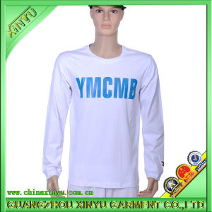Men′s Long Sleeves Printing T Shirt 100% Cotton Men T Shirt pictures & photos