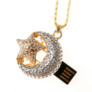 Moon+Stars Necklace Pendrive Jewelry USB Flash Memory Drive pictures & photos