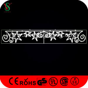 LED Cross Street Decorative Christmas Motifs Lights with Star pictures & photos