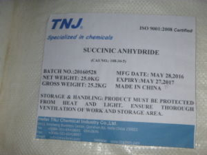 Buy Succinic Anhydride Industrial Grade 98% & Pharma Grade 99.5% pictures & photos