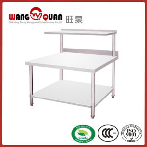 Multiple 2 Tier Stainless Steel Work Table with Single Layer Top Rack pictures & photos