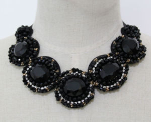 Ladies Fashion Costume Jewelry Crystal Chunky Choker Necklace (JE0155) pictures & photos
