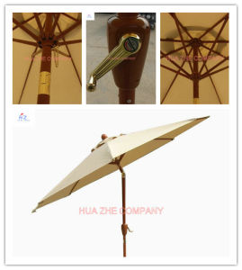 Hz-Um118 9ft (2.7m) Crank Umbrella with Tilt Patio Umbrella Sunshade Umbrella Garden Umbrella Outdoor Umbrella Cheap Umbrella pictures & photos