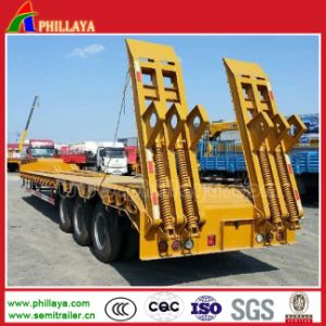 Heavy Duty Machine Transport Three Axle Lowbed Semi Trailer pictures & photos