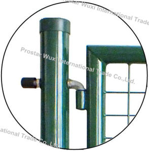 Fence Gate, Iron Gate, Garden Gate, Round Post Gate, Double Wing Gate pictures & photos