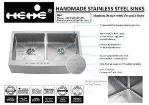 Handcrafted Sink, Handmade Sink, Stainless Steel Sink, Kitchen Sink, Farm Sink pictures & photos