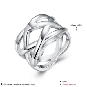 Western Fashion Netted Ring Silver Plated Round Ring for Party pictures & photos