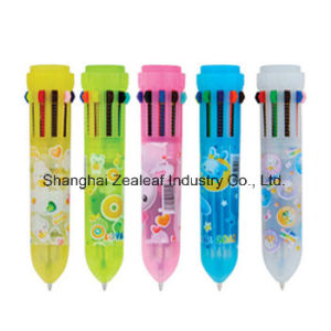 Multicolor Plastic Retractable Pen Zl1016c