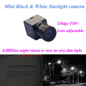 0.0001lux Night Vision Mini Size 120deg Fov 600tvl Black White Micro Video Camera HD with House pictures & photos