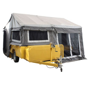 Camper Trailer Hot Galvanized Tandem Box Cage Trailer on Sale pictures & photos