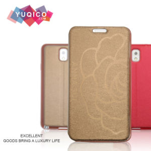 Folio Flip Leather Mobile Phone Cover with Viewing Window for Samsung