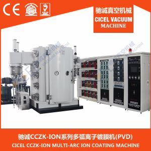 Titanium Plasma PVD Vacuum Plating Machine, Titanium Nitride Ion Plasma Metallizing Coating System/Equipment pictures & photos
