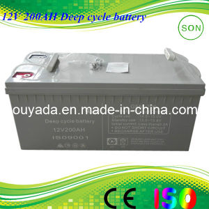 12V 200ah Rechargeable Power Solar Battery pictures & photos