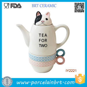 Fantastic Funny Zoo Ceramic Cup and Teapot Tea Set pictures & photos