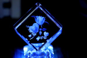 Crystal & Glass, 2D&3D Photo Laser Engraving Machine 300*400*153mm pictures & photos
