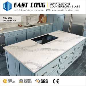 Polished Quartz Stone Slabs for Countertops/Engineered/Vanitytops/Hotel Design pictures & photos