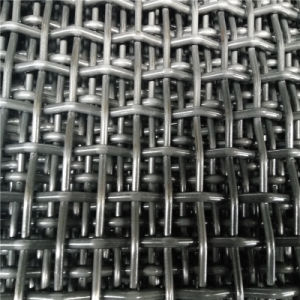 Black 45# Steel Crimped Wire Mesh with Hook pictures & photos
