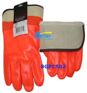 Fluorescent PVC Chemical Resistance Work Glove