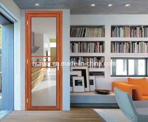 Double Glass Aluminum Casement Entrance Door (70-SR)
