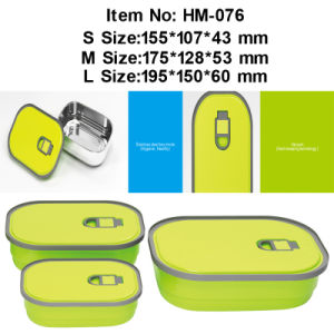 Stainless Steel Lunch Box and Sealed Lunch Box and Vacuum Lunch Box (HM-076)
