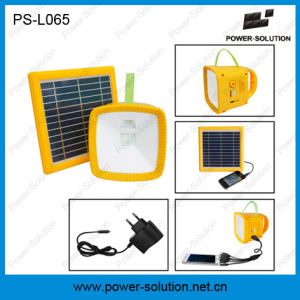 New Designe Rechargeable Solar Lantern with Radio, USB Charger, Battery Level Indicator pictures & photos