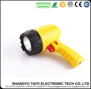 5W Yellow Color Handheld Moving Camping Rechargeable Spotlight LED pictures & photos
