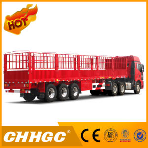 High Quality 3 Axle Chhgc Double-Stake Semi-Trailer pictures & photos