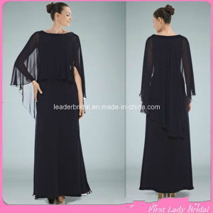 Cheap Chiffon Mother of Bride Dress Black Maternity Eveinng Dresses Z7049 pictures & photos