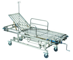 Medical Stainless Steel First-Aid Emergency Treatment Stretcher Bed for Operation Room pictures & photos