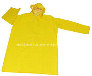 0.32mm Long PVC Raincoat R9025 pictures & photos