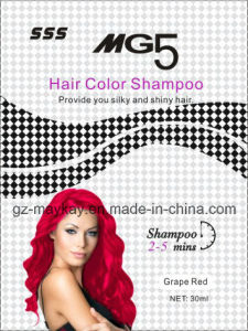 Mg 5 Hair Color Shampoo (Grape Red) 30ml pictures & photos