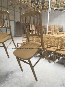 Gold Napoleon Chair, Stackabel Chair, Low Price pictures & photos