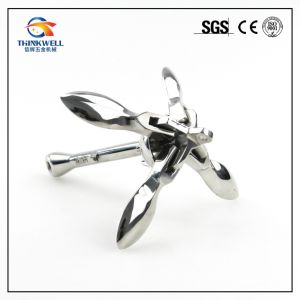 Marine Hardware Galvanized Folding Grapnel 4 Flucks Anchor for Boats pictures & photos