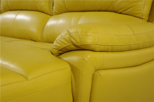 Recliner Leather Sofa Sets for L Shape Living Room Used pictures & photos