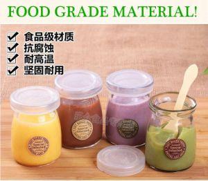 Food Grade 40ml 100ml Pudding Glass Bottle Mini Milk Bottle with Cork or Cap