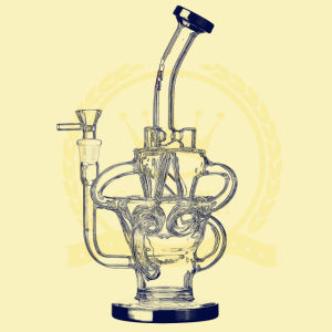 Wholesale Colorful 12 Inch Inline DAB Oil Rigs Recycler Glass Smoking Water Pipe pictures & photos