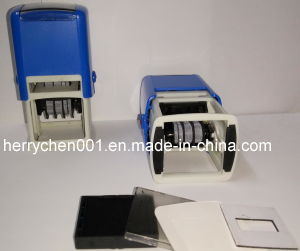 Self Inking Dater Stamp in Square Shape, D4640 pictures & photos