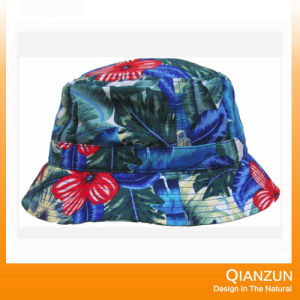 Custom Design Label Logo Popular Floral Blank Bucket Cap pictures & photos