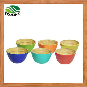 Popular Colorful Bamboo Salad Bowl / Rice Bowl / Serving Bowl pictures & photos