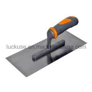 Hot Sale Carbon Steel Plastering Trowel with Soft Handle (JF-PT121)