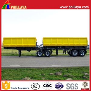 Double Box Dump Semi Trailer B-Double with Hydraulic System pictures & photos
