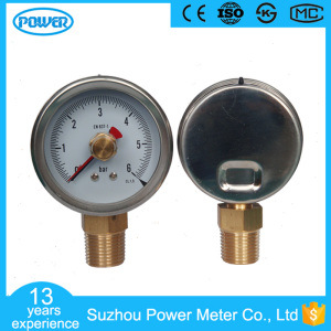 2.5inch Half Stainless Steel Pressure Gauge with Rememory Red Pointer pictures & photos