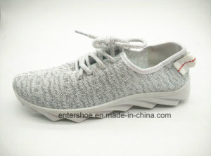 Injection Women Athletic Shoes with Lace up (ET-XK160215W) pictures & photos