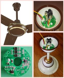Solar Emergency 230V AC DC Ceiling Fan with 12V/7ah Battery 10 Years Life pictures & photos