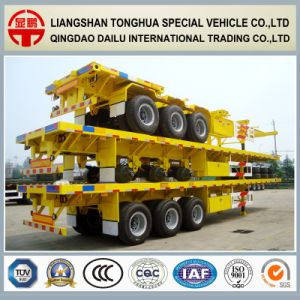 3 Axles 40FT Container Skeleton Semi Trailer on Promotion pictures & photos