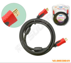 Suoer HDMI to HDMI AV Cable (1.8M Braided Wire) pictures & photos