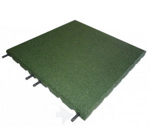 Interlocking Rubber Tile, Beautiful Rubber Floor Tile, Green SBR Rubber Tile pictures & photos